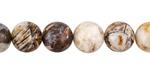 Wooden Jasper Round 8.5-9mm