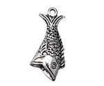 Zola Elements Antique Silver (plated) Fish Glue in Cord End 18x36mm
