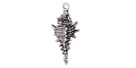 Zola Elements Antique Silver Finish Conch Shell Charm 11x23mm