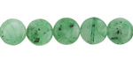 Green Agate Puff Coin 10mm