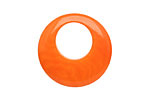 Tagua Nut Orange Gypsy Hoop 25mm