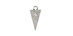 Zola Elements Antique Silver (plated) Triangle Charm w/ CZ 8x15mm