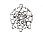 Antique Silver (plated) Dreamcatcher 28x33mm