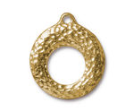 TierraCast Gold (plated) Artisan Toggle Ring 27x30mm