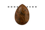 Bronzite Flat Teardrop 18x25mm