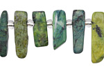 China Chrysocolla Stick Slice Focal Set 6-8x18-25mm