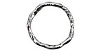 Rustic Charms Sterling Silver Large Rustic Round Link 23mm