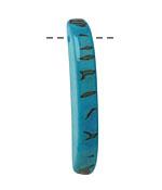 Tagua Nut Turquoise Splinter (top-drilled) 6-8x38-48mm