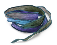 Greek Vacation Hand Dyed 100% Silk Ribbon 1/2""