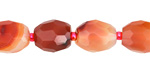 Carnelian (natural) Faceted Rice 12-14x10-11mm