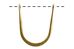 Nunn Design Antique Gold (plated) Short Open Horseshoe Wire Frame 24x30mm