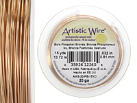 Artistic Wire Bare Phosphor Bronze 20 gauge, 15 yards
