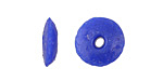 African Recycled Glass Cobalt Saucer 4-5x13-15mm