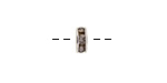 Silver Finish Black Diamond Rhinestone Rondelle 8mm