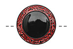 Czech Glass Viking Shield Button 27mm