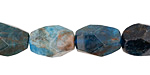 Pacific Blue Apatite Faceted Rice 12-16x9-12mm