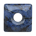 Dumortierite Square Donut 40mm