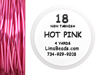 Parawire Hot Pink 18 Gauge, 4 Yards