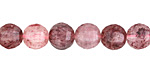 Strawberry Quartz Step Cut Round 9-10mm