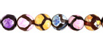 Rainbow Agate Patterned Faceted Round 8mm