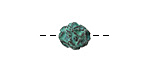 Greek Copper (plated) Patina Ornate Round 9mm