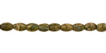 African Green Jasper Rice 6x4mm