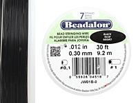 "Beadalon Black .012"" 7 Strand Wire 30ft."