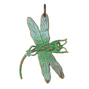Vintaj Vogue Natural Brass Art Deco Dragonfly 35x47mm
