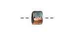 Greek Ceramic Raku Metallic Frosted Copper Short Tube Spacer 7x8mm