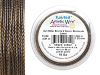 Twisted Artistic Wire Antique Brass 18 gauge, 5 yards