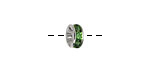 Silver (plated) Peridot Rhinestone Rondelle 8mm