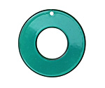 Turquoise Resin Donut 33mm