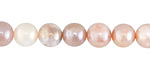 Peach Moonstone w/ AB Luster Round 8mm