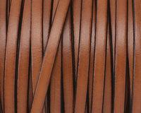 Tan Flat Leather Cord 5mm