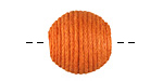 Tangerine Thread Wrapped Bead 18mm