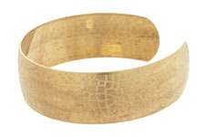 Brass Crackled Cuff 63x19mm