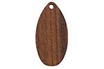 Walnut Wood Teardrop Focal 16x31mm