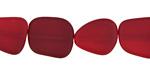 Black Cherry Red Recycled Glass Flat Freeform 15x13-15mm