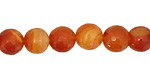 Carnelian (natural) Faceted Round 10mm