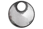 Zola Elements Antique Silver Finish Gypsy Hoop w/ Beaded Edge 32mm