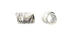 Nunn Design Sterling Silver (plated) Leaf Barrel 12x7.5mm