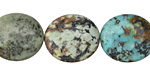 African Turquoise Flat Oval 16x14mm