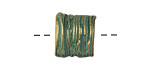 Zola Elements Patina Green Brass (plated) Straw Basket Slide Bead 13x15mm