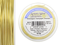 Artistic Wire Silver Plated Champagne 18 gauge, 20 feet