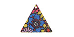 Psychedelic Blooms Etched & Printed Gold Finish Triangle Focal 22x19mm