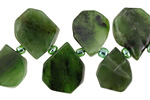 Canadian Jade Teardrop Slice 10-13x12-16mm