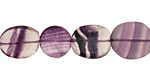 Rainbow Fluorite Flat Polished Pebble 14-17x13-16mm