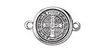 Zola Elements Antique Silver (plated) Saint Benedict Medal Link 30x22mm
