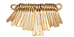 Zola Elements Matte Gold (plated) Short Teardrop Graduated Paddle Set 34x14-22mm