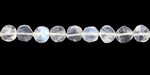 Moonstone (rainbow) Faceted Coin 5-6mm